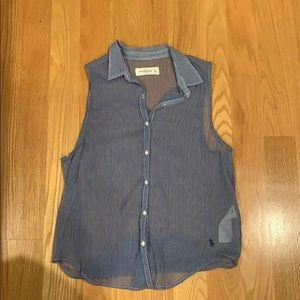 Abercrombie Sheer sleeveless top